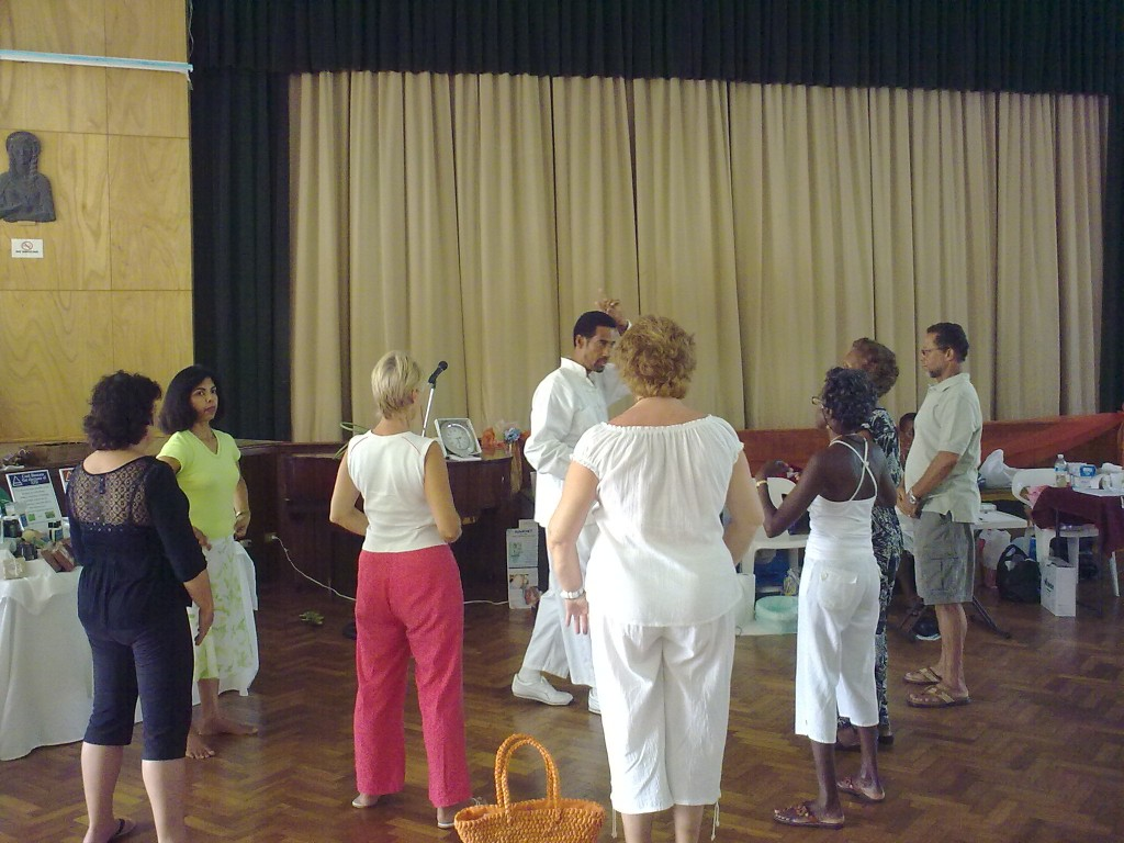 Participants in the Tai Chi demonstration