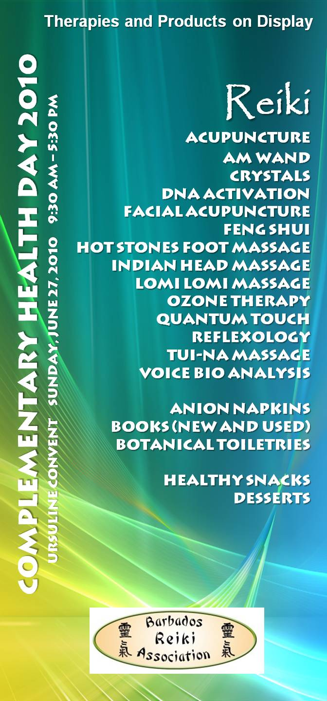 Complementary Health Day – Therapy List