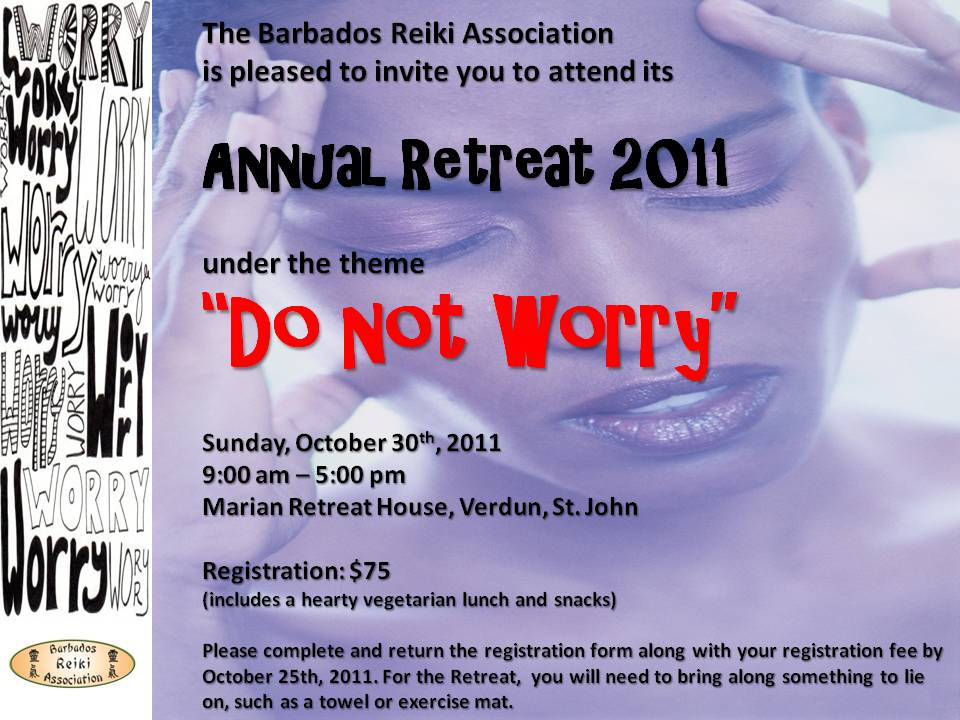 """""""Do Not Worry"""" – Annual Retreat – October 30th, 2011"""