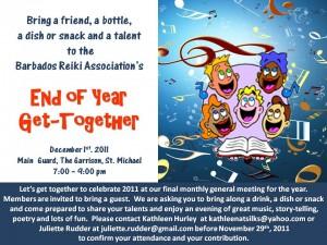 Barbados Reiki Association - End of Year Social Invitation