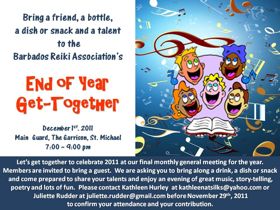 Barbados reiki associations end of year get together dec 1st barbados reiki association end of year social invitation stopboris Choice Image