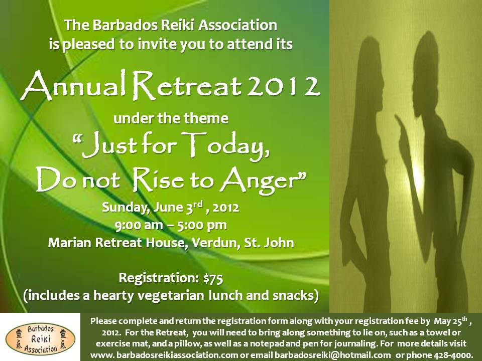 Invitation to the Barbados Reiki Association's Annual Retreat 2012