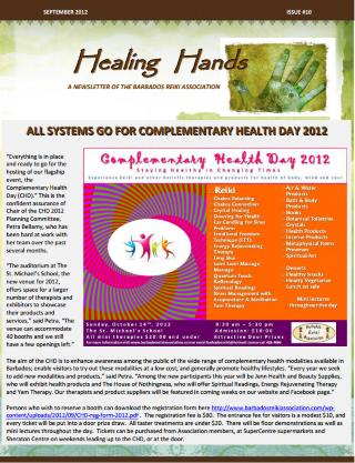 Healing Hands Cover Sept 2012