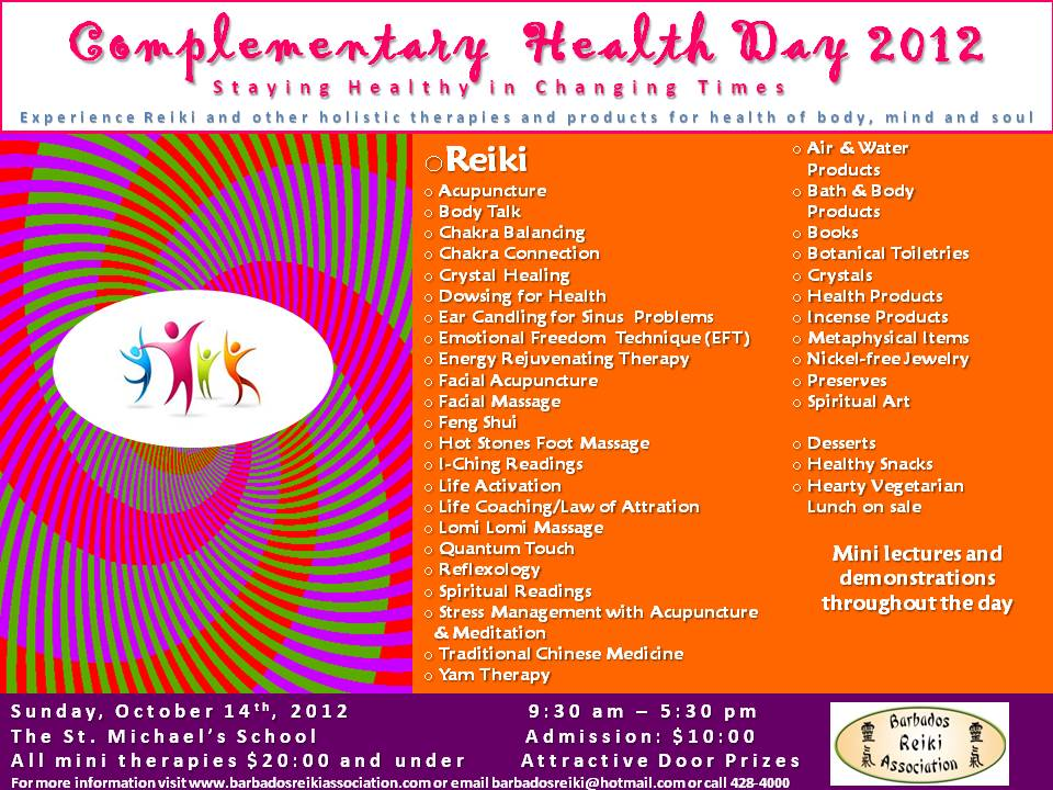 Complementary Health Day 2012- updated flyer