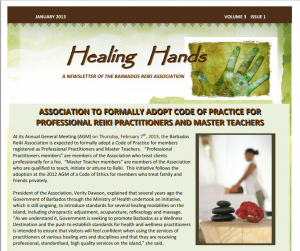 Healing Hands Jan 2013 cover
