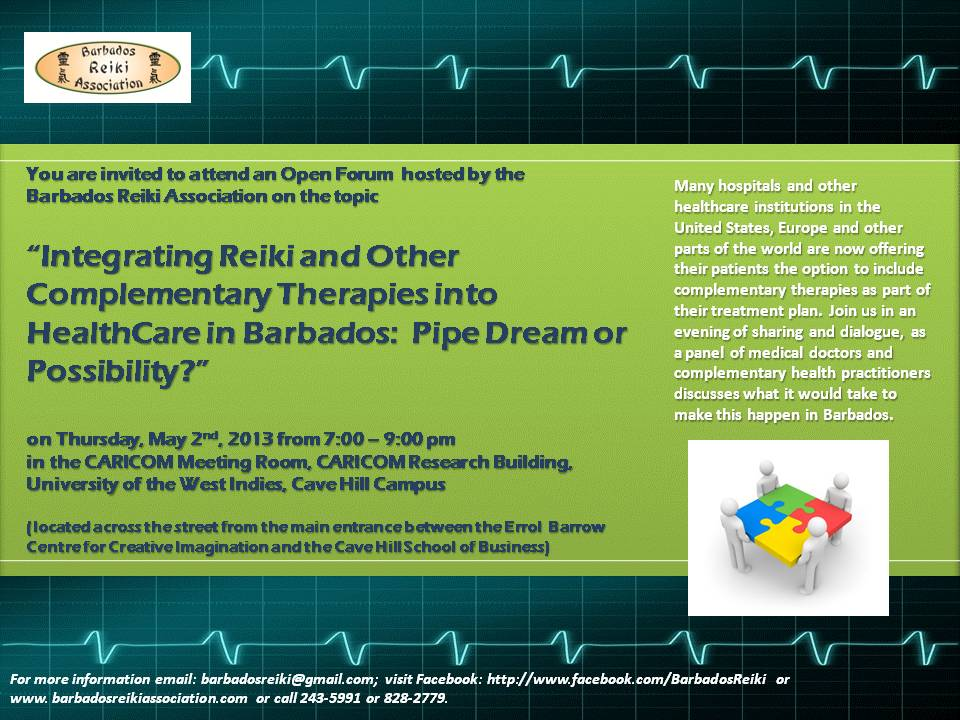 Invitation to an Open Forum on Reiki in Medicine – May 2nd 2013