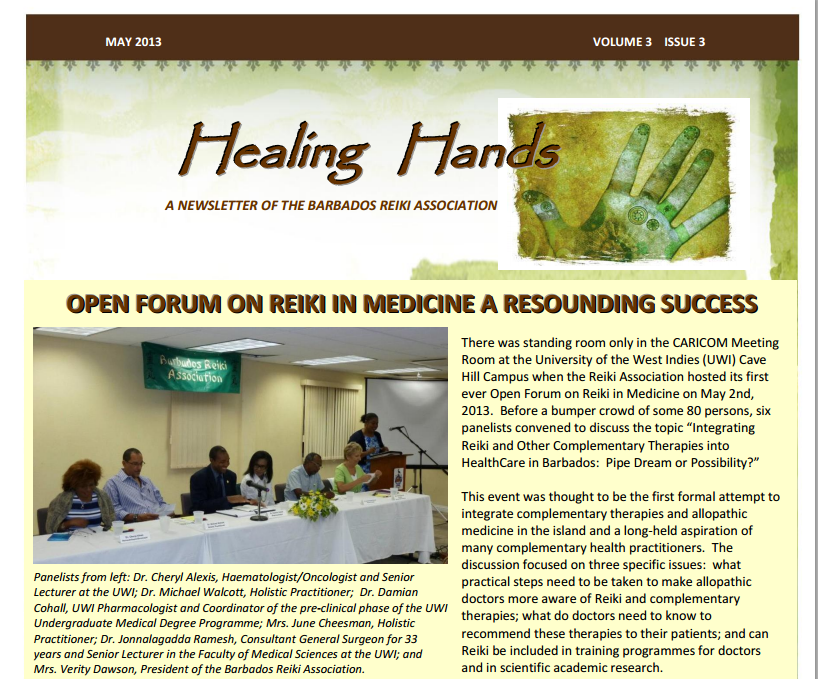 Healing Hands Newsletter May 2013