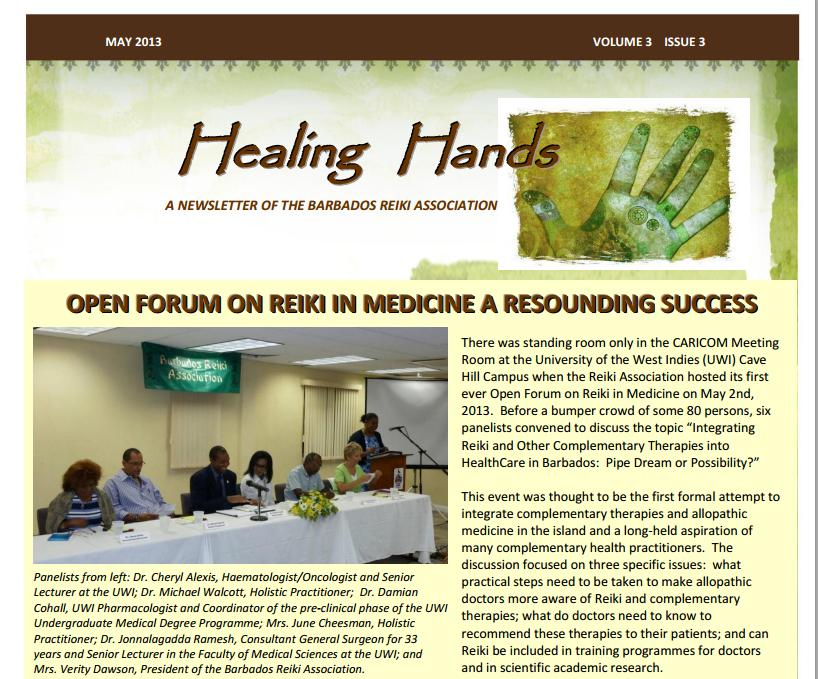 Healing Hands Newsletter May 2013