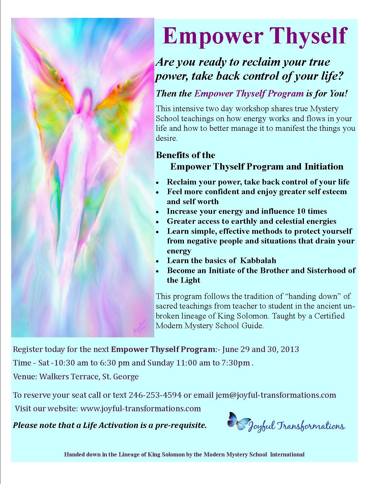 Empower Thyself – June 2013