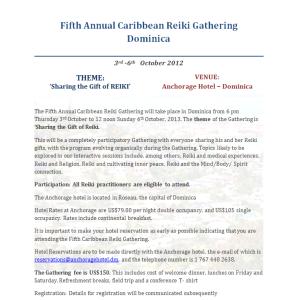 Reiki gathering 2013 poster
