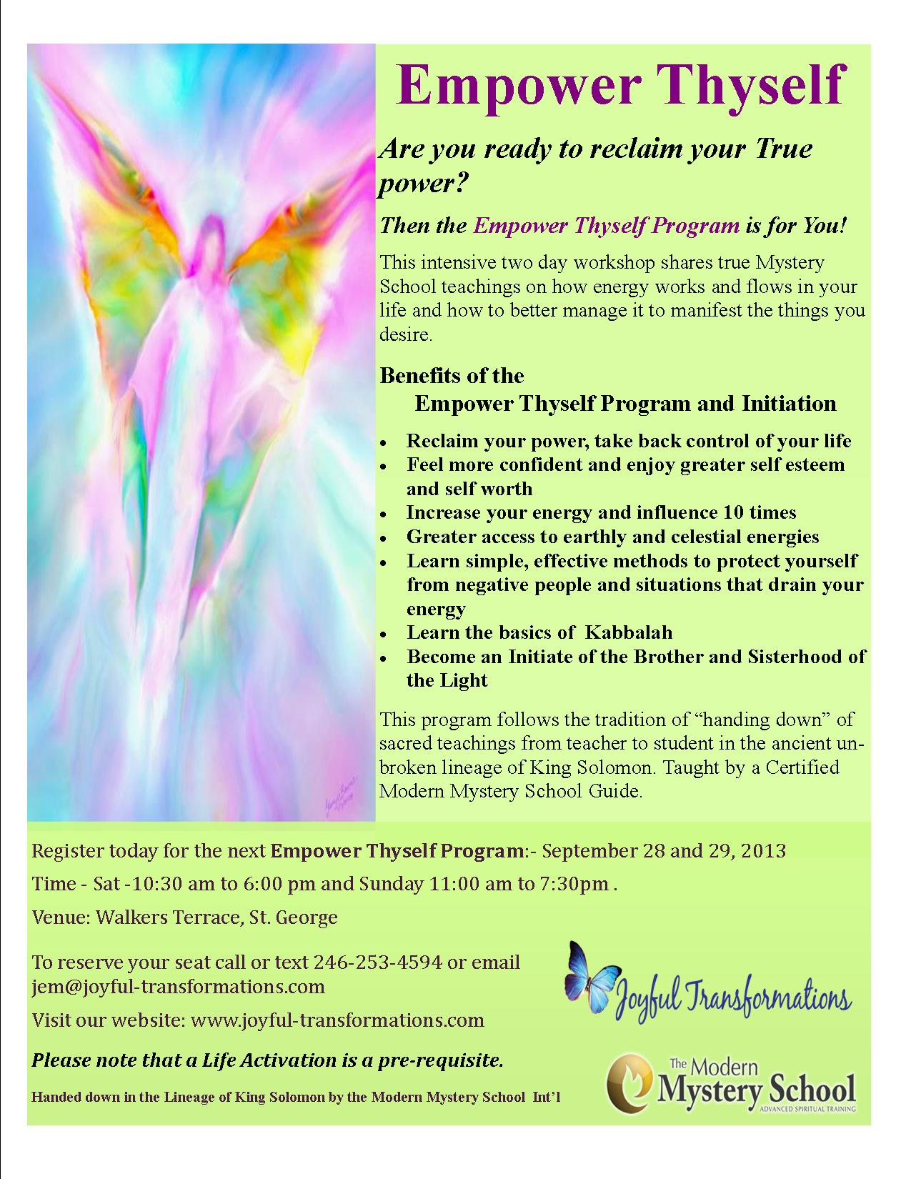 Empower Thyself - September 2013
