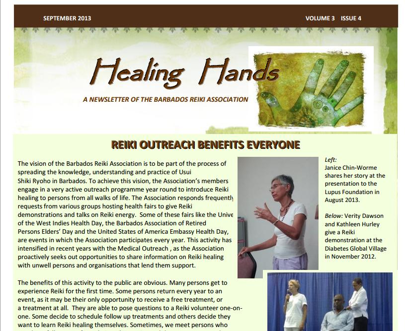Healing Hands September 2013