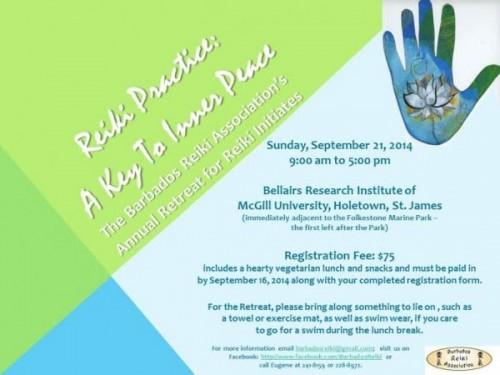 Reminder: Reiki Retreat October 21