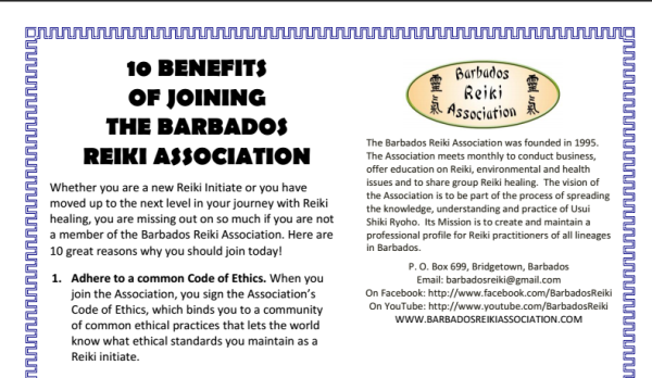 Benefits of Joining the Barbados Reiki Association
