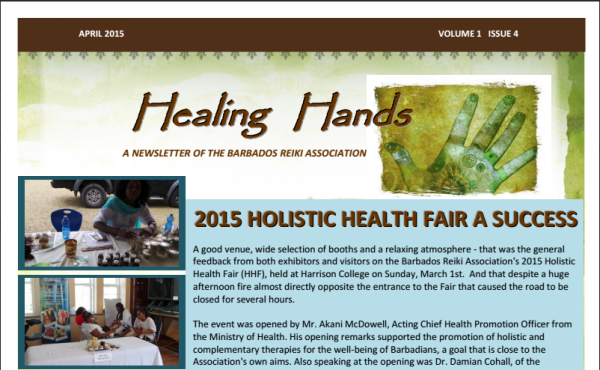 Healing Hands April 2015 cover
