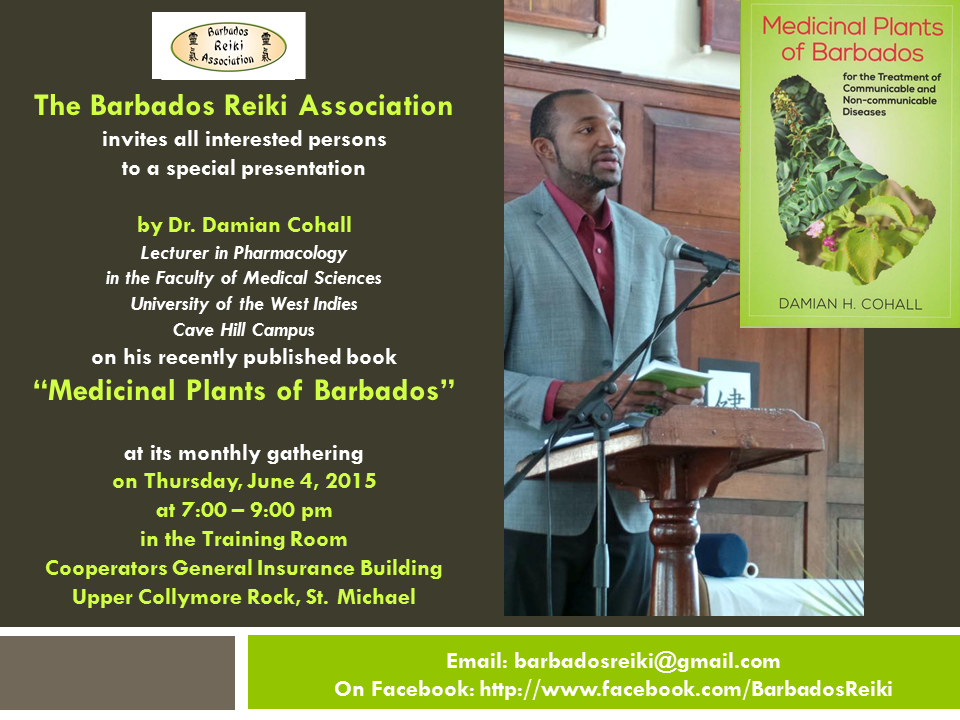 Damian Cohall lecture - Medicinal Plants of Barbados