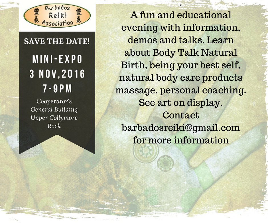Mini Expo – Barbados Reiki Association's November Meeting