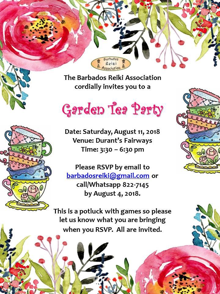 Garden Tea Party – August 11, 2018