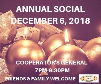 Annual Social 2018 – Thursday, December 6th