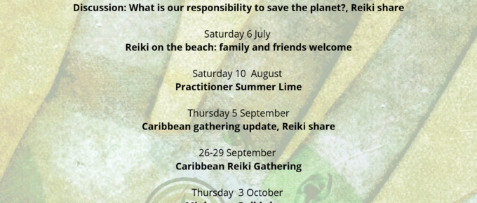 Reiki events 2019-2020 barbados
