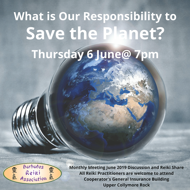 Save the planet discussion flyer