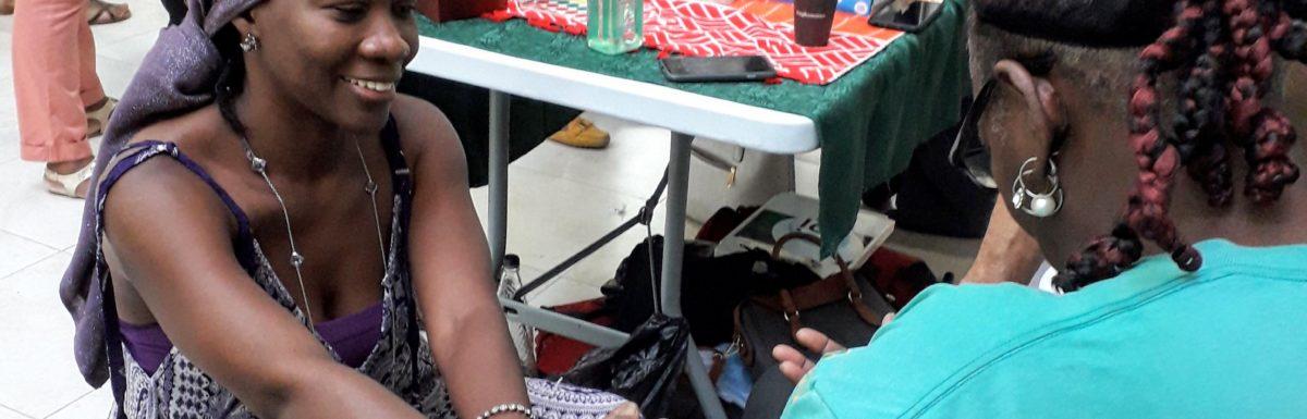 Sharing Reiki at yesterday's Caribbean Wellness Day at Sheraton